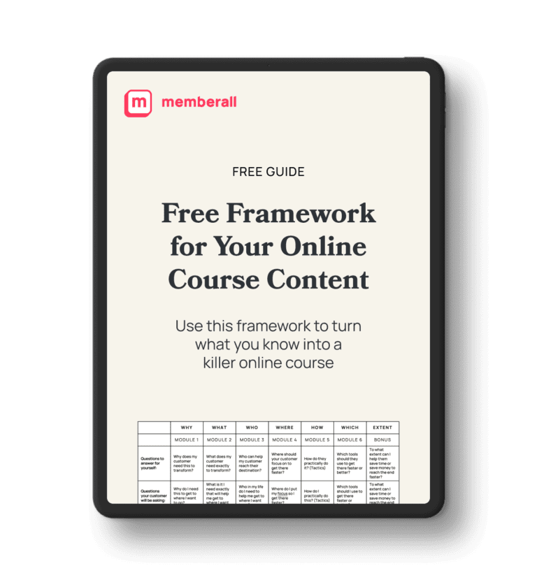 free framework for your online course on ipad