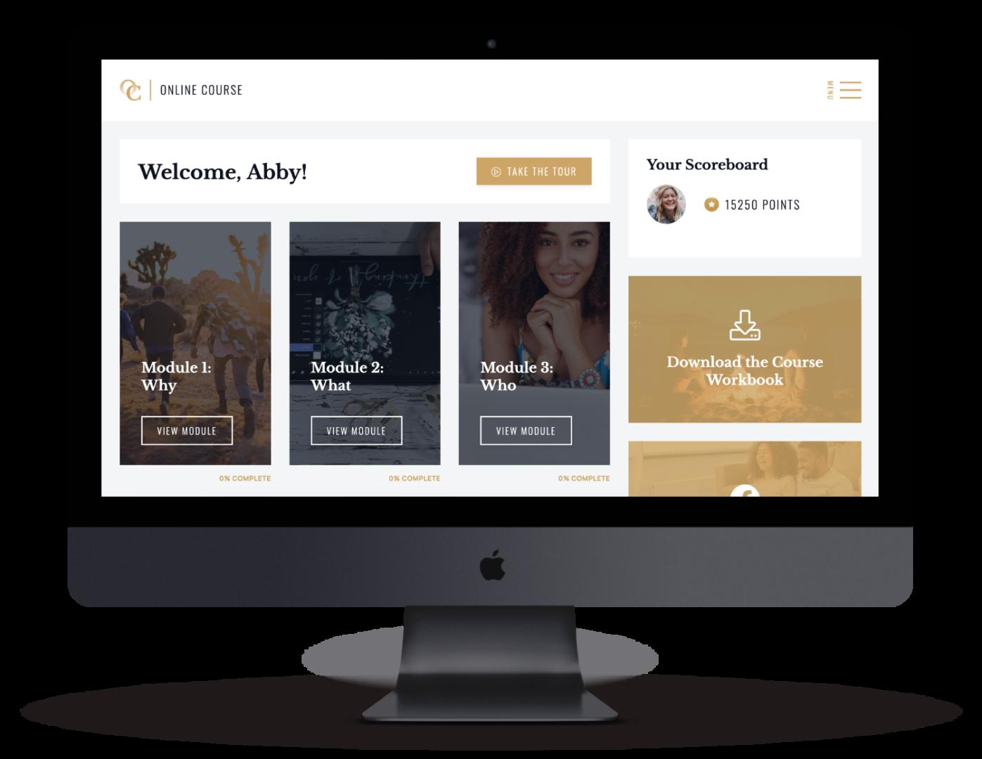 Online Course Website on a mac pro