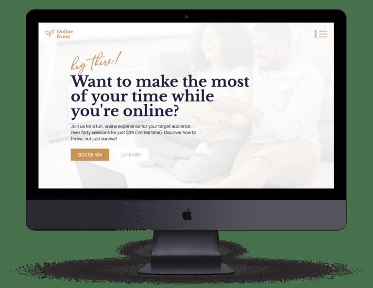 Online Event Website on a mac pro