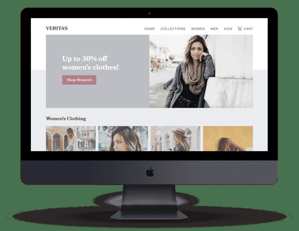 ecommerce website on a mac pro