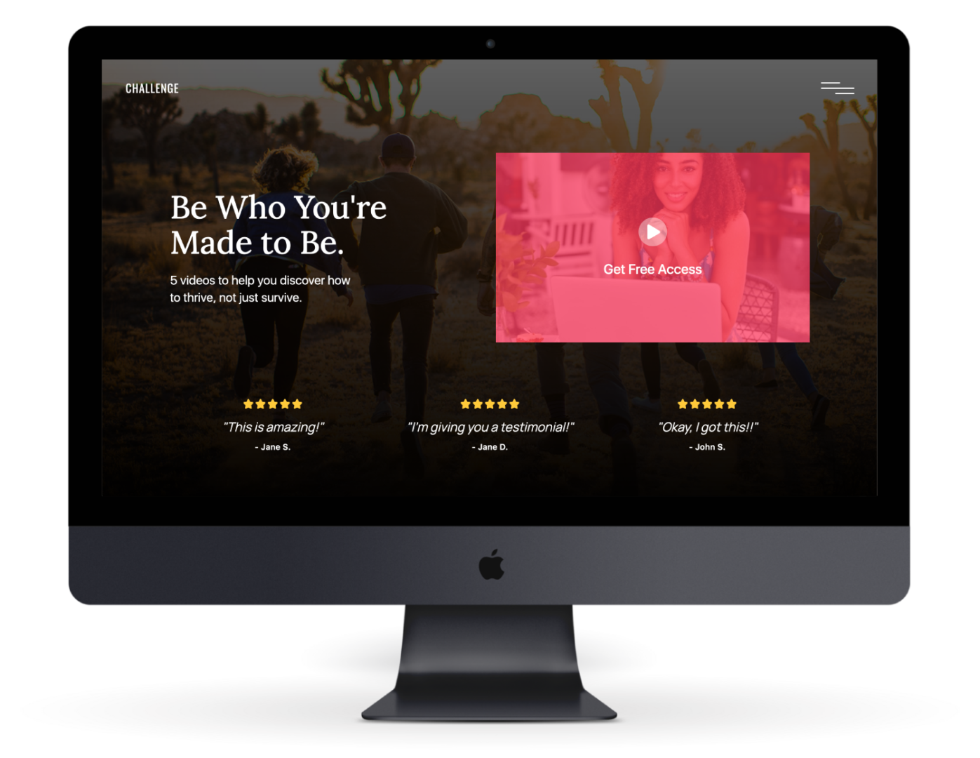 Challenge website on mac pro
