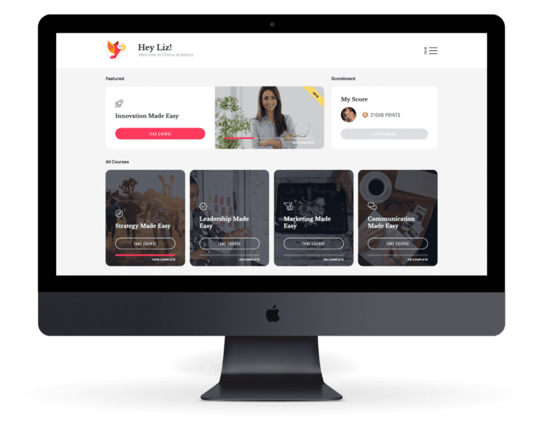 Online Academy Website on a mac pro