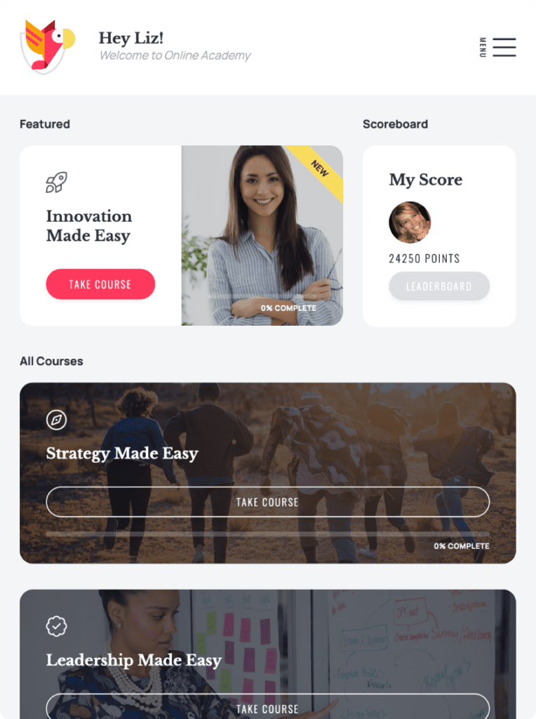efficio website design on ipad