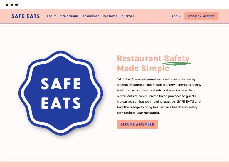 safe eats on a computer